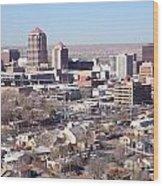 Albuquerque Skyline Wood Print