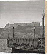 Alcatraz-the Rock Wood Print