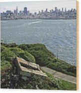 Alcatraz And San Francisco Wood Print