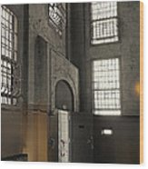 Alcatraz Doorway To Freedom Wood Print by Daniel Hagerman