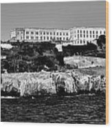 Alcatraz Federal Prison Wood Print by Benjamin Yeager