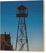 Alcatraz Guard Tower Wood Print by Steve Gadomski