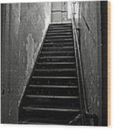 Alcatraz Hospital Stairs Wood Print
