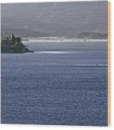 Alcatraz Island And Richardson Bay Wood Print
