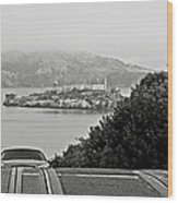 Alcatraz Island From Hyde Street In San Francisco Wood Print by RicardMN Photography