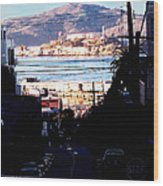 Alcatraz - So Close Yet So Far Wood Print