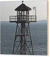 Alcatraz Watch Tower Wood Print