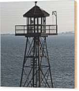 Alcatraz Watchtower Wood Print