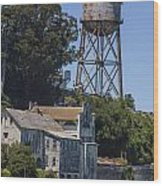 Alcatraz Water Tower Wood Print by John McGraw