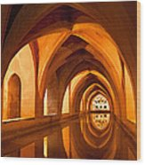 Alcazar Cave Galleries Seville Wood Print by Viacheslav Savitskiy