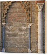 Alcazar Columns In Spain Wood Print