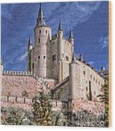 Alcazar Of Segovia Wood Print