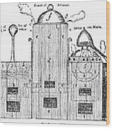 Alchemy: Tower Of Athanor Wood Print
