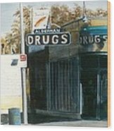 Alderman Drugs Wood Print