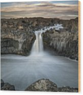 Aldeyjarfoss Waterfall North Iceland Wood Print