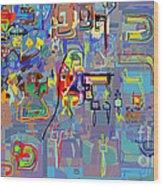 Alef Bais 1p Wood Print