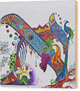 Aleph II Wood Print by Dawnstarstudios