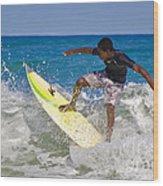 Alex 16 Year Old Pro Surfer Wood Print