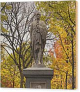 Alexander Hamilton Statue Wood Print by Joann Vitali