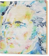 Alexander Hamilton - Watercolor Portrait Wood Print