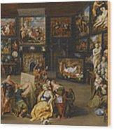 Alexander The Great Visiting The Studio Of Apelles Wood Print