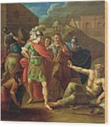 Alexander The Great Visits Diogenes At Corinth, 1787 Oil On Canvas Wood Print