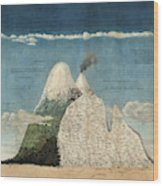 Alexander Von Humboldts Chimborazo Map Wood Print