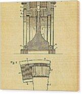 Alexanderson Altenator Patent Art 1911  Wood Print