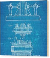 Alexanderson Altenator Patent Art 2 1911 Blueprint Wood Print