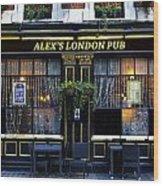 Alex's London Pub Wood Print