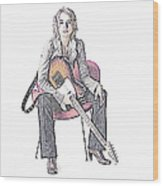 Alexz Johnson Wood Print