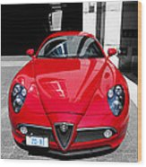 Alfa Romeo 1c Wood Print
