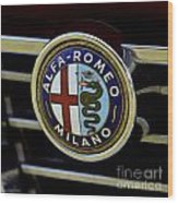 Alfa Romeo Badge Wood Print