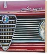 Alfa-romeo Guilia Super Grille Wood Print