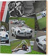Alfa Romeo Milano Collage Wood Print