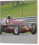 Alfa Romeo On Sam Posey Straight Wood Print