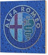 Alfa Romeo Rainy Window Visual Art Wood Print