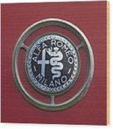 1961 Alfa Romeo Giulietta Sprint Veloce Series II Emblem -1045c Wood Print