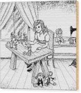 Alfred Talks To Tammy Wood Print