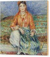 Algerian Girl Wood Print