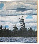 Algonquin Kawawaymog Wendy's Tree Wood Print