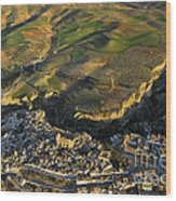 Alhama De Granada From The Air Wood Print