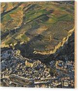 Alhama De Granada Volcanic Lands Wood Print