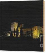 Alhambra At Night Wood Print