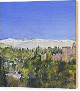 Alhambra Granada Wood Print
