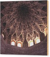 Alhambra Sculpted Domed Ceiling Wood Print
