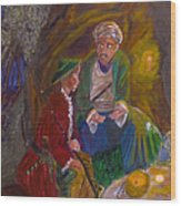 Ali Baba Wood Print by Mounir Mounir