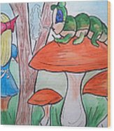 Alice Asking For Directions Wood Print