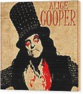 Alice Cooper 1 Wood Print