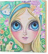 Alice In Pastel Land Wood Print